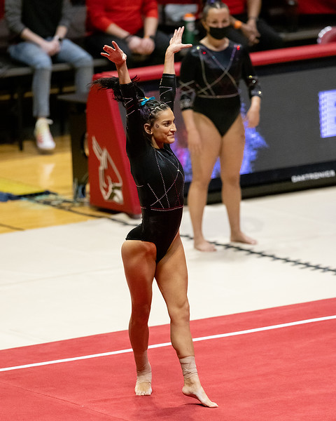 Ball State celebrates seniors in the home finale on February 28, 2021. Photo by Tony Vasquez for Indy Sports Daily.