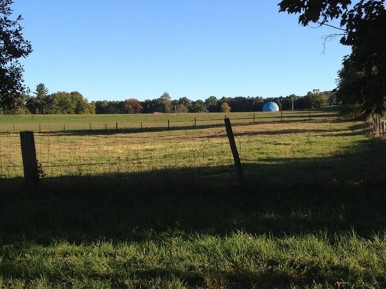Balloon across the field