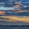 Sailing towards Copenhagen at dawn