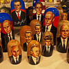 Matryoshka dolls, Saint Petersburg, Russia. These famous dolls come in many forms...politicians, rock stars, movie stars, and traditional.