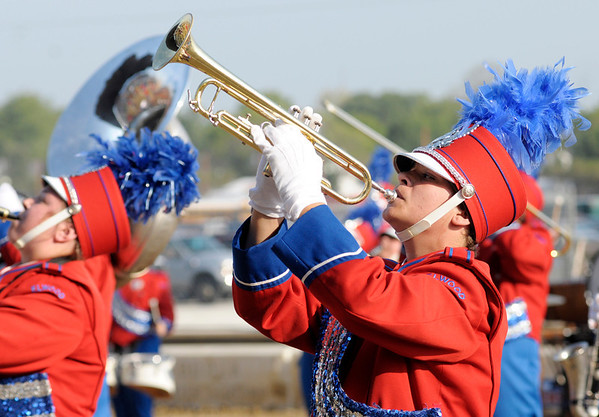 Sage Schiffner performs with the Marching Panthers.
