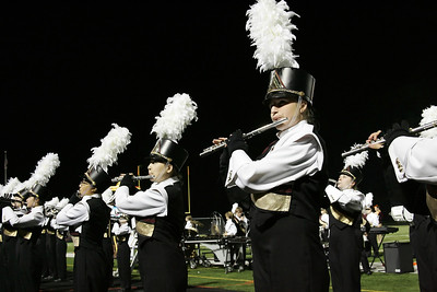 Lauren White (closest) plays flute at the Avon Lake High School Band-O-Rama. photo by Ray Riedel