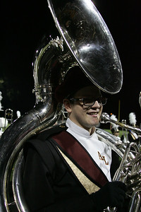 Kyle O'Malley on the Sousaphone ay Band-O-Rama. photo by Ray Riedel
