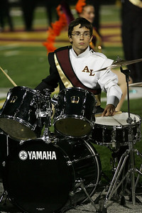 Drummer Ben McComas of the Avon Lake marching band. photo by Ray Riedel