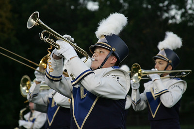 Marcelino Castro plays trumpet for Clearview Marching Band. photo by Ray Riedel