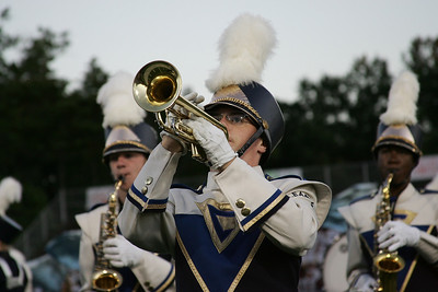 Colin McComas on trumpet for Clearview Marching band. photo by Ray Riedel
