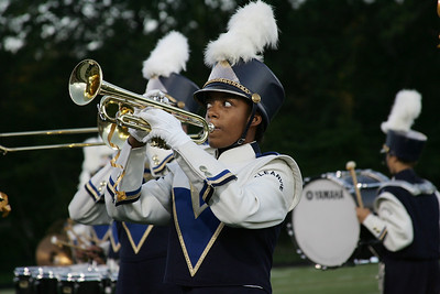 Emily Moore on trumpet for Clearview Marching band. photo by Ray Riedel