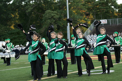 The color guard of the Columbia marching band performs a dance routine at Band-O-Rama.photo by Ray Riedel