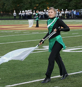 Brianna Nagle of the Columbia Marching band color guard. photo by Ray Riedel