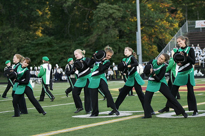 The color guard of the Columbia marching band performs a dance routine at Band-O-Rama. photo by Ray Riedel