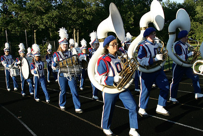 Oberlin marching band enters at Band-0-Rama. photo by Ray Riedel