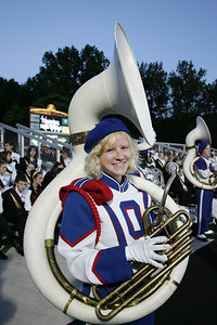 Sarah Burbridge smiles before performing at band-O-Rama. photo by Ray Riedel