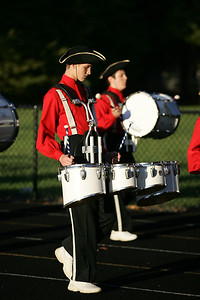 Ben Jackson with quads, enters into the Avon lake high school stadium with the Open Door High School marching band for band-O-Rama. photo by Ray Riedel