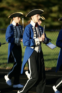 Makaela Johnston with piccolo, enters into the Avon lake high school stadium with the Open Door High School marching band for band-O-Rama. photo by Ray Riedel