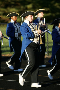 Halle Brown with trumpet, enters into the Avon lake high school stadium with the Open Door High School marching band for band-O-Rama.  photo by Ray Riedel