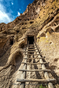 Ladder and Entry Door-Bandalier National Monument, New Mexico