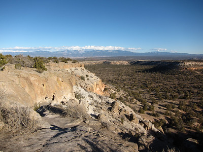 View to the east from pueblo ruins.