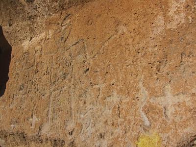 Alternate view of petroglyphs.