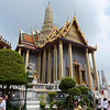 Part of Wat Phra Kaew.  Everything is very shiny and colorful