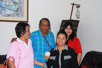 Cynthia and members of a Peace Community Church house church
