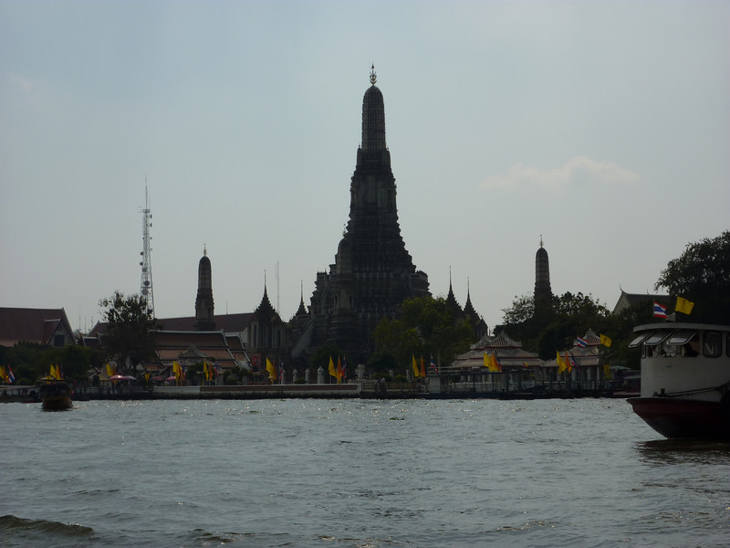 View from river taxi on Chao Praya River, Bangkok
