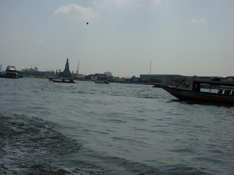 View from river taxi on Chao Praya River, Bangkok