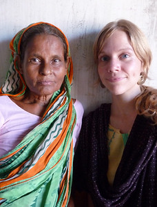 rukhia (our housekeeper) and kate (my roommates for my first 2 weeks in bangladesh)