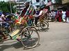 rikshaws.  dhaka