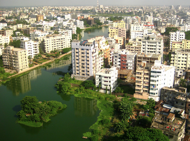 view of dhaka from BRAC centre.  dhaka