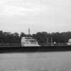 The 560-foot Shell Oil tanker Asprella, one of the largest tankers to navigate the Penobscot, docked in Brewer on August 2, 1960.  BANGOR DAILY NEWS PHOTO BY JOHN BAKER