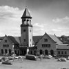 Union Station on Washington Street dominated downtown after opening in 1907 until its demolition in 1961. The brick structure served Maine Central Railroad passengers, as well as the Bangor and Aroostook Railroad. Its grand illuminated bell tower clock was visible for many miles. This BANGOR DAILY NEWS PHOTO BY SPIKE WEBB was taken in August 1960.