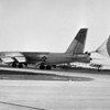 Dow Air Force Base's first B-52G, eight-jet engine bomber arrived at 5:30 p.m. on Friday, May 27, 1960.  BANGOR DAILY NEWS PHOTO BY CARROLL HALL