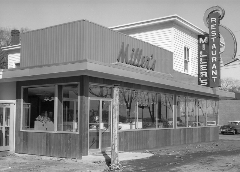 Miller's Restaurant takes shape as the remodeling of the former Aunt Molly's Restaurant nears completion in 1962.  BANGOR DAILY NEWS FILE PHOTO