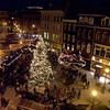 West Market Square is aglow with holiday spirit during Bangor's annual tree lighting and parade late Saturday afternoon.  (Bangor Daily News Photo by Linda Coan O'Kresik)