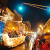 "A FESTIVAL OF LIGHTS   Floats make their way down Main Street during the parade. Forty-six units particpated in the parade with the theme ""Making Dreams Real.""  holiday<br /> <br /> CAPTION<br /> Floats make their way through downtown Bangor on Saturday, Dec. 6, 2008 during the Festival of Lights Parade. Forty-six groups participated in this year's parade whose theme was ""Making Dreams Real.""   BANGOR DAILY NEWS PHOTO BY BRIDGET BROWN  (WEB EDITION PHOTO)"