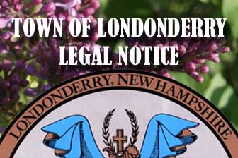 Town of Londonderry, New Hampshire Legal Notice