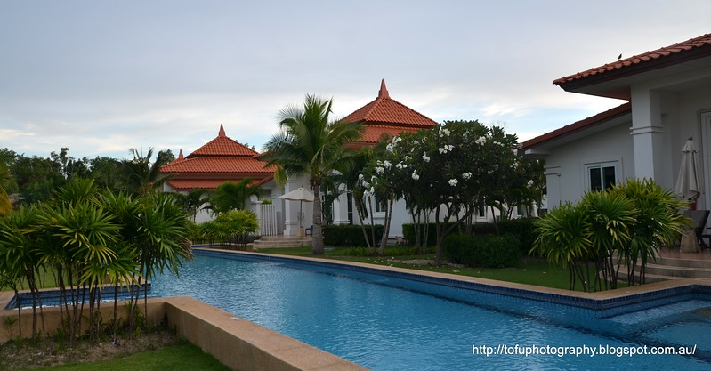 A swimming pool at the Banyan Resort, Hua Hin, Thailand in August 2017