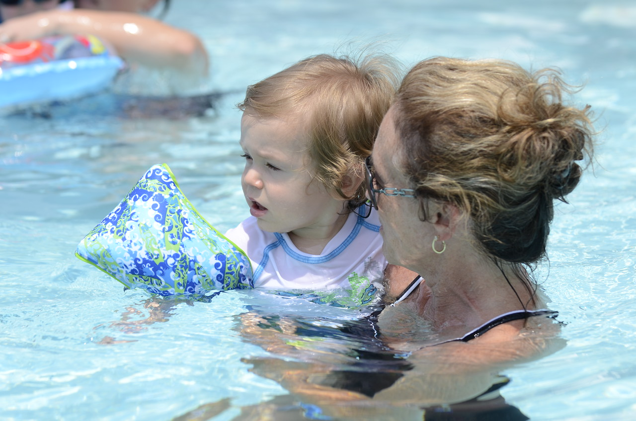 summer day in the pool at jans  july 2012