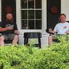 Johnny and me sippin on the porch