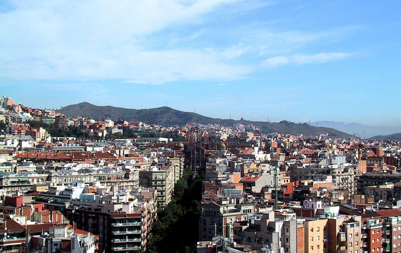 Barcelona, as seen from Sagrada Familia