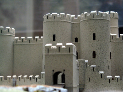 A model of the castle