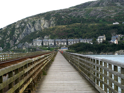 Barmouth has been a tourist destination for at least a hundred years.  A lot of the buildings in town are old hotels.