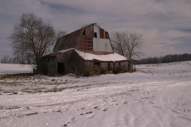 It's winter in Missouri. The barn doesn't care...