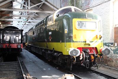 Class 55 D9009 'Alycidon' inside Bury Depot   13/04/13