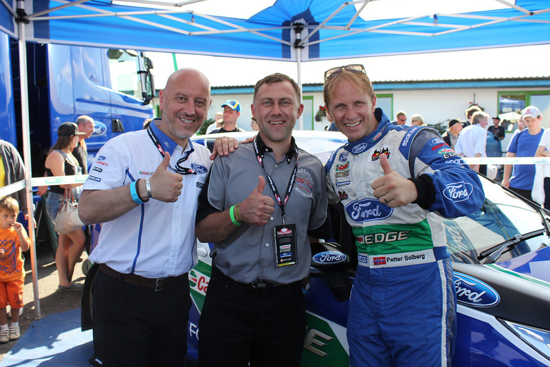 Gerard Quinn, Barry Lindsay and Petter Solberg <br /> Image courtesy & © of Glenn Patterson.