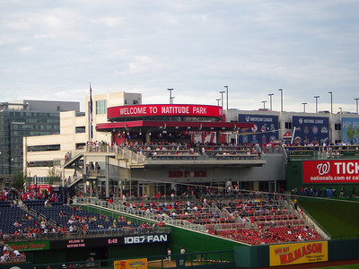 The Nats fans were much less subdued then I have experienced in the past, but they also have a good team this year.