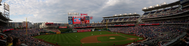 The seats did fill in as the game went on.