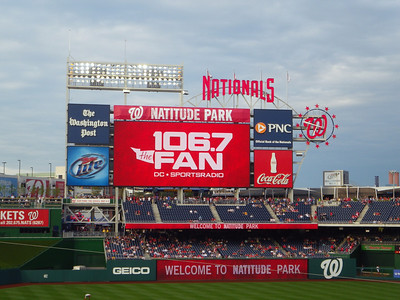 """The Nationals have been pushing this series as their """"Take Back The Park"""" series, since Phillies fans have been pouring down to games in DC since the club moved here."""