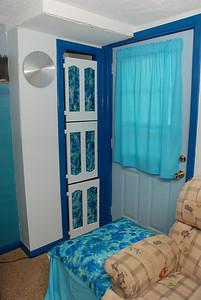 Closet and walk-out door.