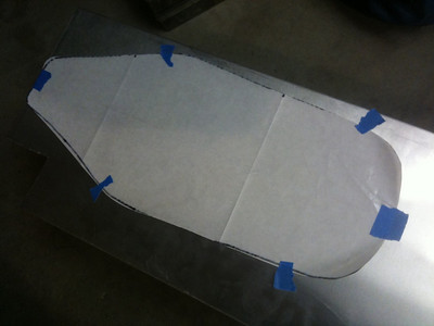 My original plan was to make the seat pan from aluminum.